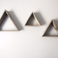 Reclaimed wood triangles