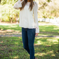 All That And More Blouse, Ivory