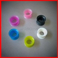Plugs Silicone Plugs Pair 00g Tunnels 0g Ear Plugs Ear Tunnels 6g Double Flare Plugs 4g Flexible 2g Flare Black Plugs White Plugs Pink Plugs