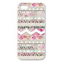 Custom Girly Floral Tribal Andes Aztec Printed HARD Cases Protector Snap On For Iphone 5