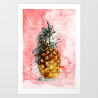 Pink Summer Art Print by Cafelab