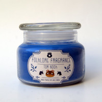 Tom Nook - Animal Crossing Inspired Scented Soy Candle (Ink & Tobacco)