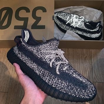 Adidas Yeezy Boost 350 V2 Black Reflective Sneakers Shoes
