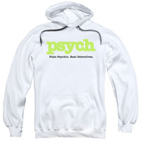 PSYCH/TITLE-ADULT PULL-OVER HOODIE-WHITE
