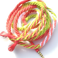 On the Ropes for Her Wrapped Headphones Tangle Free Earbuds MyBuds Skullcandy WInk'd Headphones