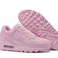 NIke Air Max 90 Men Women Fashion Casual Sports Shoes Pink Size 36-46