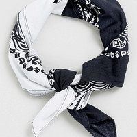Black and White Bandana - TOPMAN USA