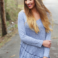 Vertical Horizon Tunic {Navy Stone}