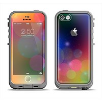 The Unfocused Color Rainbow Bubbles Apple iPhone 5c LifeProof Fre Case Skin Set