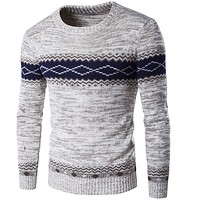 Autumn Sweaters And Pullovers Men Long Sleeve Knitted Sweater High Quality Winter Pullovers Warm