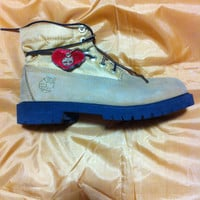 Vintage Timberland Women's Roll Top Boots in Wheat with Cheetah/Woman Boots sz MX 4M/sz US 7/authentic