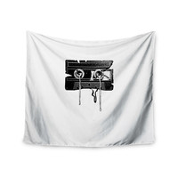 "BarmalisiRTB ""Cassette Memories"" Black White Wall Tapestry"