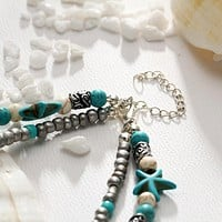 New Bohemia Style Waves Starfish Anklets