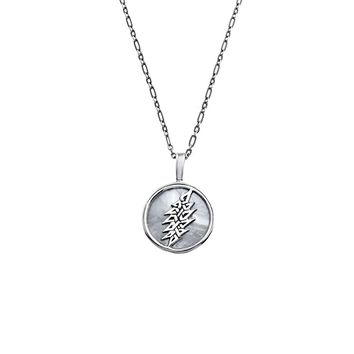 13-Point Lightning Bolt Sterling Silver & Mother Of Pearl Charm Necklace