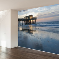 Paul Moore's Pier at Dusk Mural wall decal