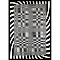 Optical Art Checkers Tapestry
