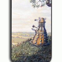 iPhone 4S Case - Rubber (TPU) Cover with A rather Dalek Afternoon Rubber Case Design