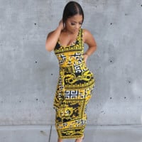 VERSACE Newest Fashion Women Sexy Print Dress