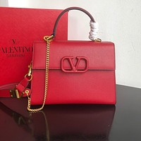 Valentino Newest Popular Women Leather Handbag Tote Crossbody Shoulder Bag Satchel