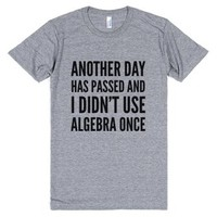 Another Day Has Passed And I Didn't Use Algebra Once T-shirt (idc50...