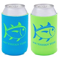 Reversible Can Caddie in Waterfall Blue/Lime Green by Southern Tide