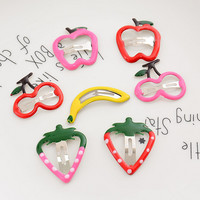 7 Mini Fruit Barrettes