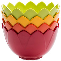 One Kings Lane - Zak! Designs - Asst of 4 Tropic Lotus Bowls, 19 Oz