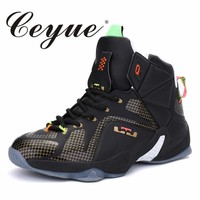 Ceyue Mens Basketball Shoes Air Damping Men Sport Sneakers High Top Breathable Trainers Boots Men Outdoor Shoes For Male