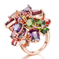 Shiny Gift New Arrival Multi-color Korean Vintage Stylish Crystal Jewelry Ring [11597565519]