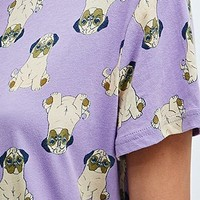 Minkpink Snug as a Pug Tee in Lilac - Urban Outfitters