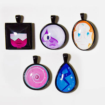Steven Universe Necklaces - Cabochon Pendants