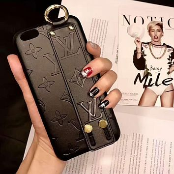 LV Louis Vuitton Fashion Print iPhone Phone Cover Case For iphone 6 6s 6plus 6s-plus 7 7plus iPhone X XR XS XS MAX Black