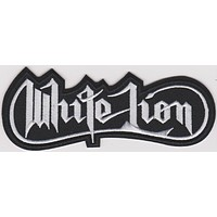 White Lion Iron-On Patch Letters Logo