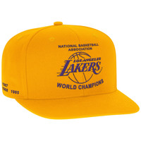 Mitchell & Ness NBA Champions Snapback Heritage Champions Banner Los Angeles Lakers In Yellow
