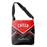 Cheer Red Cheerleader Outfit Tote Bag