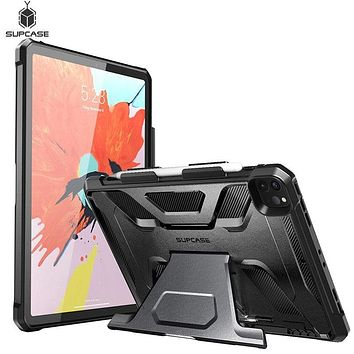 For iPad Pro 11 Case (2020 Release) SUPCASE UB Series Full-Body Rugged Rubber Cover with Built-in Apple Pencil Holder&kickstand