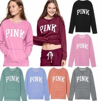 Women's Casual Tops T-Shirt Loose Fashion Blouse Long Sleeve Hoodies Sweatshirt