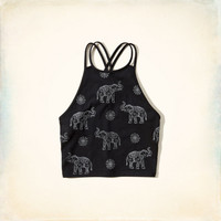 Elephant Graphic Crop Top