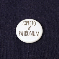 Expecto Patronum 1 Inch Button - Harry Potter - Keychain, Magnet or Pinback