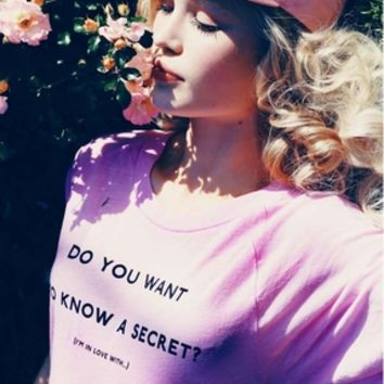 Wildfox Couture Secret Perfect Tee in Romantic