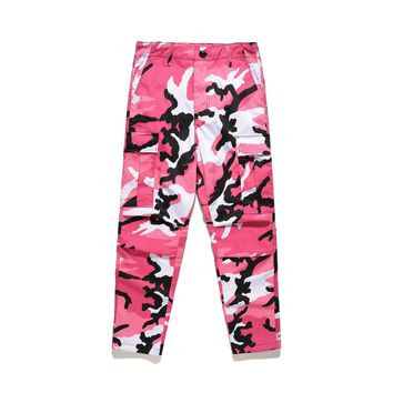 Camouflage Pink Cargo Pants