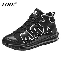 Men Air Cushioning Jordan Basketball Sneakers Anti-skid High-top Suede Basketball Boots