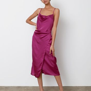 Amore Mio Slip Dress - Violet