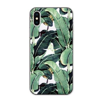 Tropical Banana Leaves Soft TPU Case for IPhone and Samsung