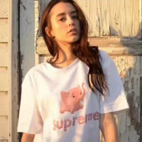 CUTE BABY ELEPHANT SUPREME HIGH QUALITY PRINT T-SHIRT TOP