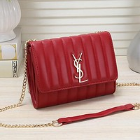 Yves Saint laurent YSL Women Fashion Leather Chain Satchel Crossbody Shoulder Bag
