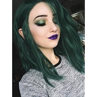 Polaris Green Bob Wave Synthetic lace front wig