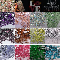 3mm 15 Colors 2000 Pcs Clear Crystal Stone FlatBack Rhinestones Trim Strass Glitter DIY Nail Art Craft Dress Phone Decoration