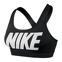 NIKE Trending Women Stylish Letter Print Yoga Gym Gather Vest Tank Top Black I-3A30-KDC