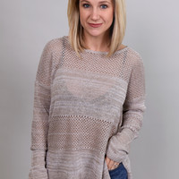 Casual In Khaki Sweater By BB Dakota